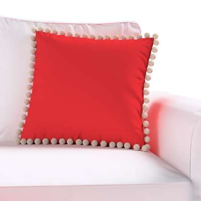 Daisy cushion covers with pom poms in collection Happiness, fabric: 133-43