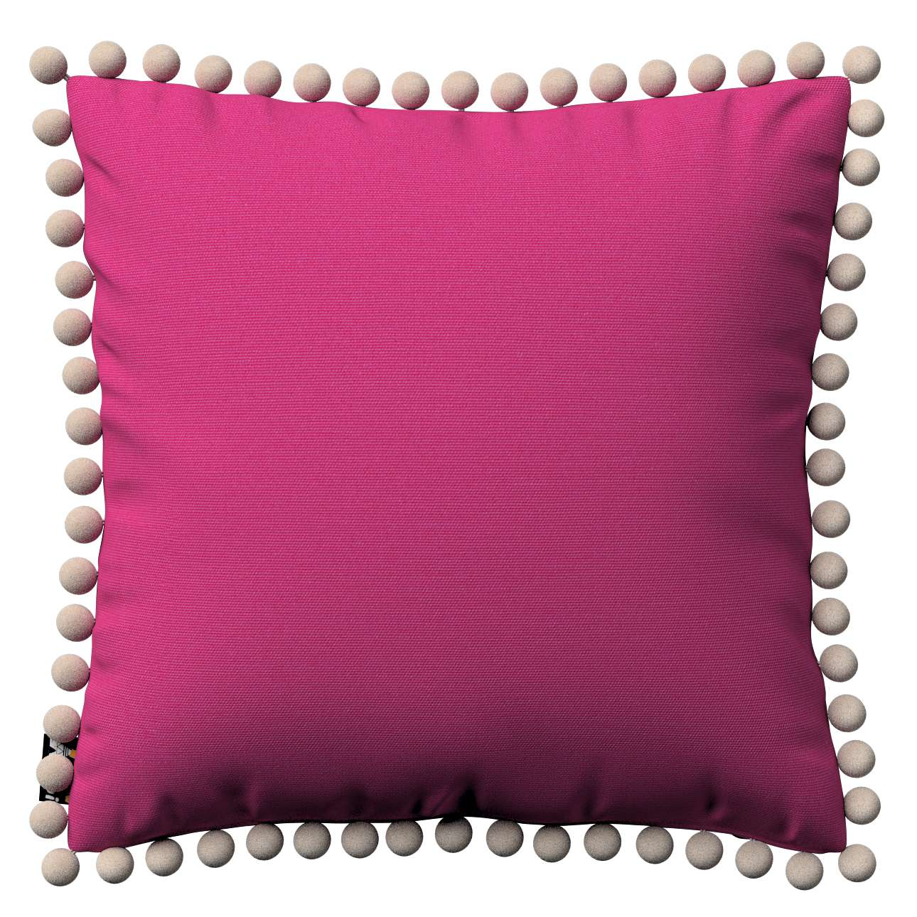 Daisy cushion covers with pom poms in collection Happiness, fabric: 133-60