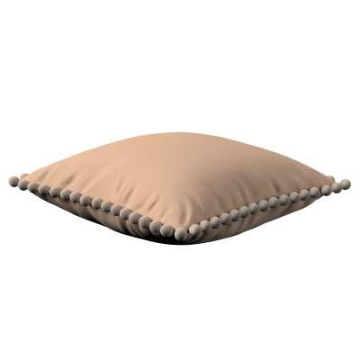 Daisy pagalvėlės užvalkalas  pom poms 702-01 smėlinė/cappuccino Kolekcija Cotton Story