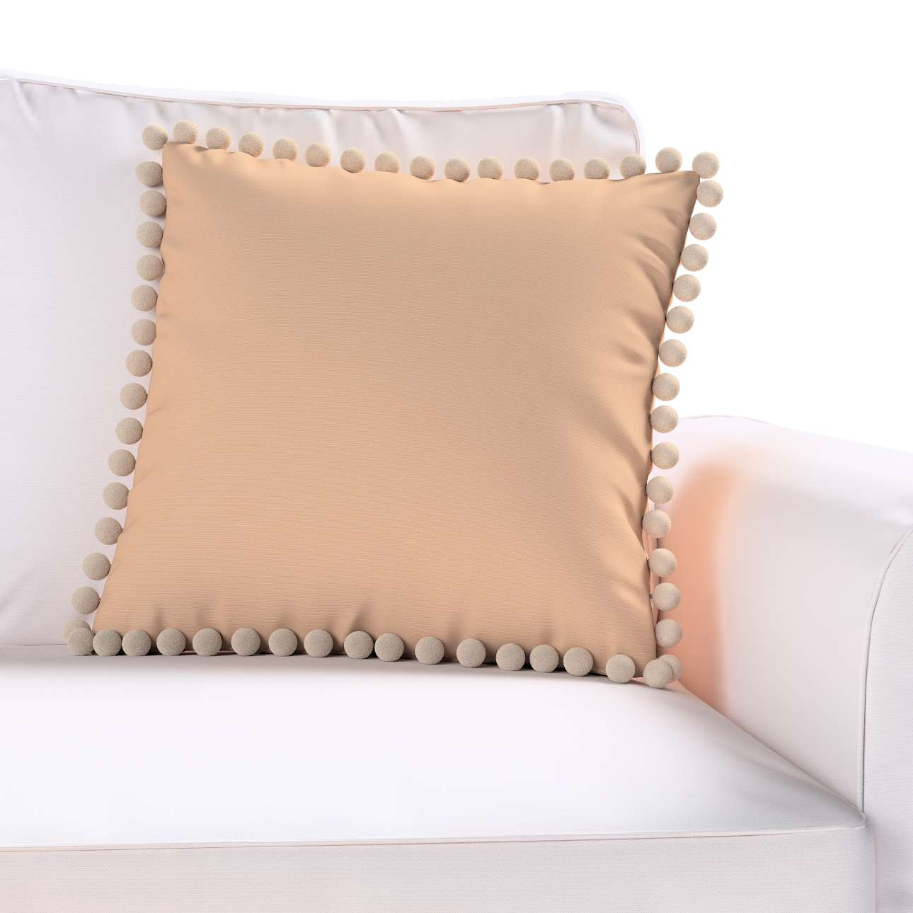 Daisy cushion covers with pom poms in collection Cotton Story, fabric: 702-01