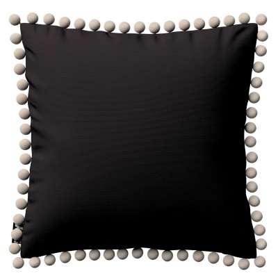 Daisy pagalvėlės užvalkalas  pom poms 702-09 juoda Kolekcija Cotton Story