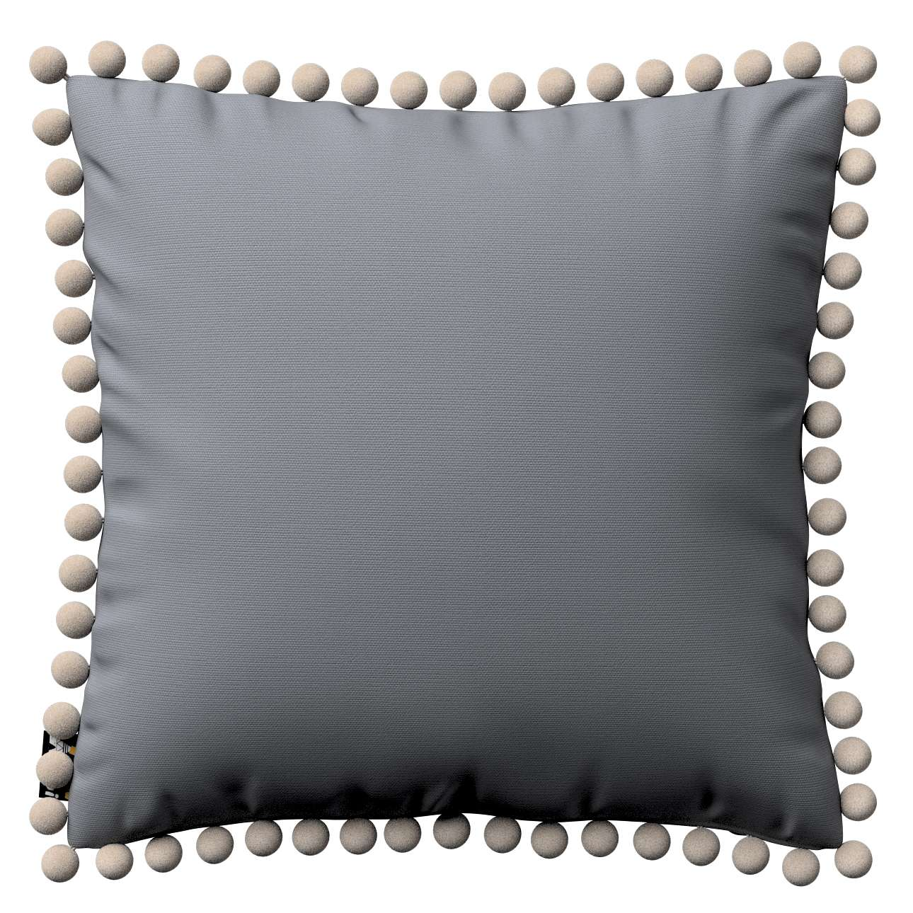 Daisy cushion covers with pom poms in collection Cotton Story, fabric: 702-07