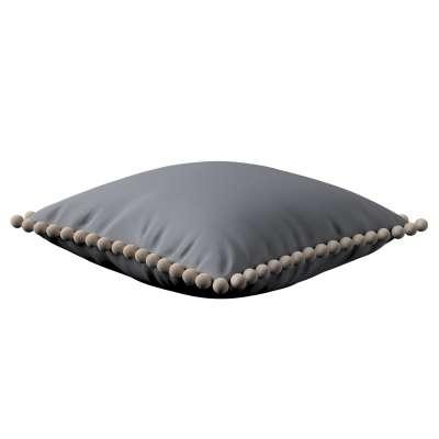 Daisy cushion covers with pom poms