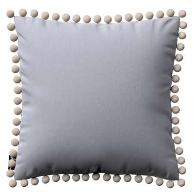 Daisy cushion covers with pom poms 704-24 grey Collection Posh Velvet