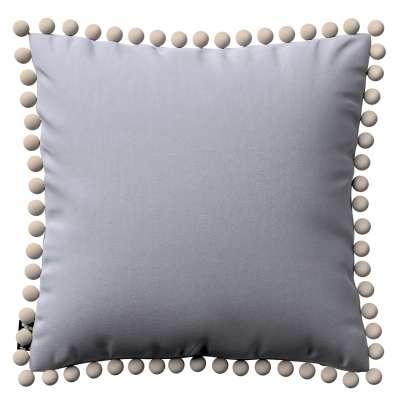 Daisy pagalvėlės užvalkalas  pom poms 704-24 pilka-sidabrinė Kolekcija Posh Velvet