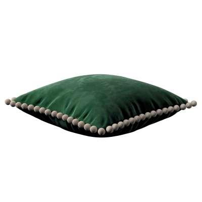 Daisy pagalvėlės užvalkalas  pom poms 704-13 žalia Kolekcija Posh Velvet
