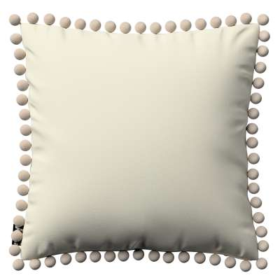 Daisy pagalvėlės užvalkalas  pom poms 704-10 kreminė balta Kolekcija Posh Velvet
