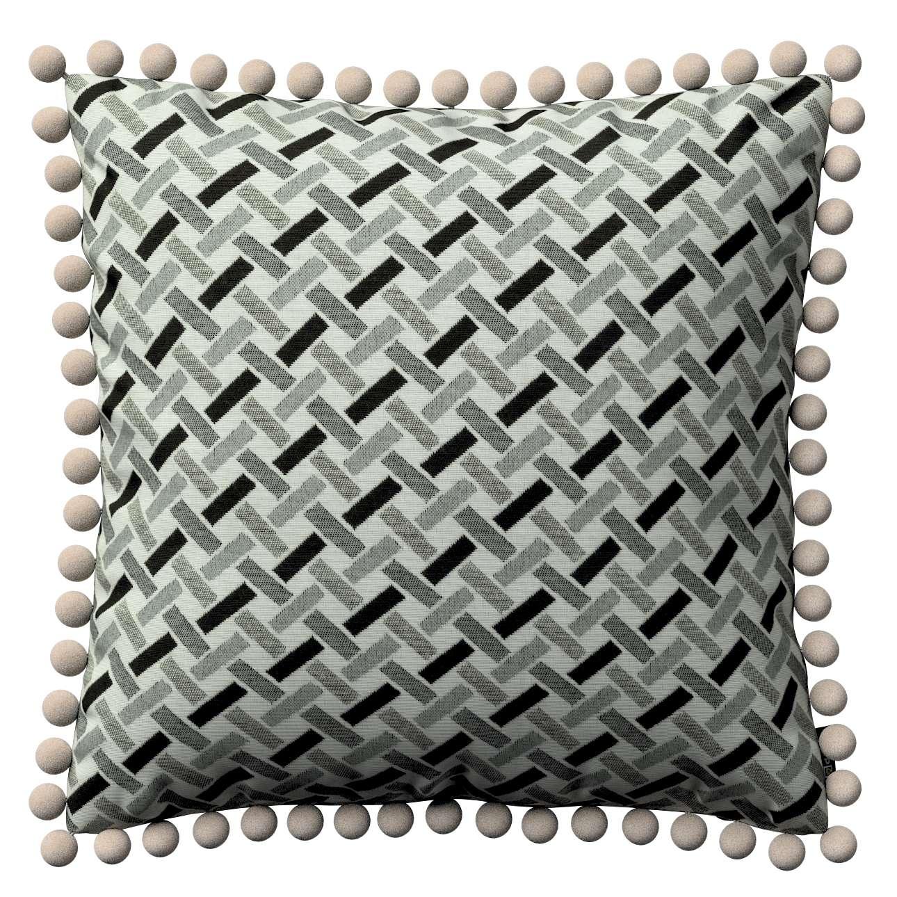 Viera s brmbolcami V kolekcii Black & White, tkanina: 142-78