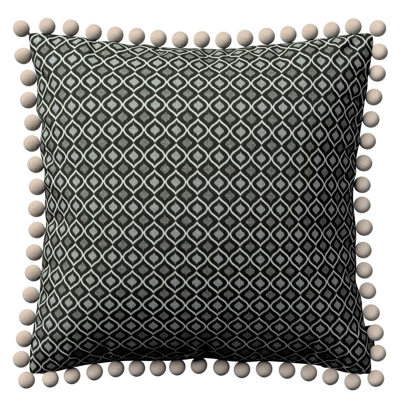 Viera s brmbolcami V kolekcii Black & White, tkanina: 142-86