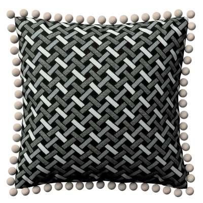 Poszewka Wera na poduszkę 142-87 czarno-biały Kolekcja Black & White