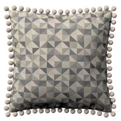 Wera dekoratyvinės pagalvėlės užvalkalas su žaismingais kraštais 142-84 pilka - mėlyna Kolekcija NUOLAIDOS