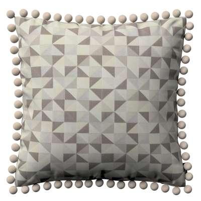 Wera dekoratyvinės pagalvėlės užvalkalas su žaismingais kraštais 142-85 smėlio spalvos - pilka Kolekcija Retro Glam