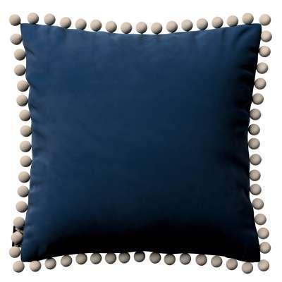 Daisy pagalvėlės užvalkalas  pom poms 704-29 tamsi mėlyna Kolekcija Posh Velvet
