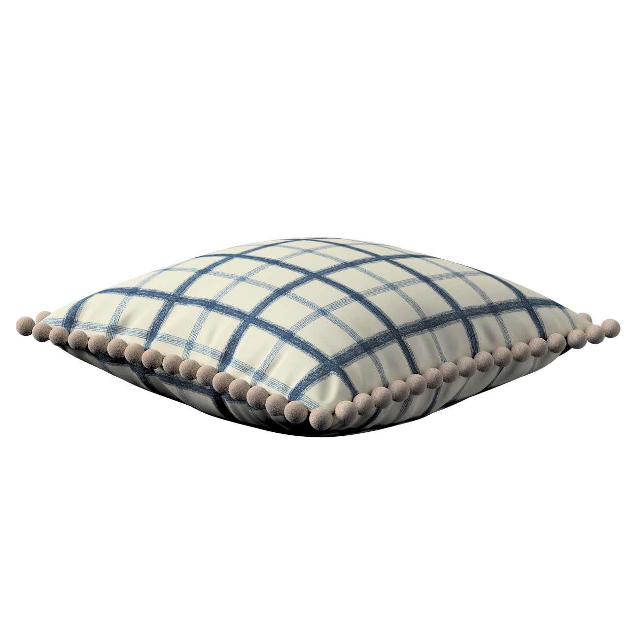 Wera dekoratyvinės pagalvėlės užvalkalas su žaismingais kraštais 45 x 45 cm kolekcijoje Avinon, audinys: 131-66