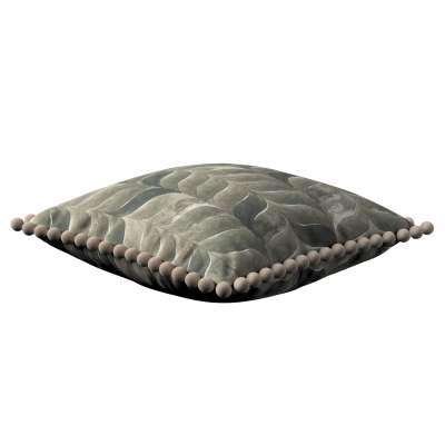 Wera dekoratyvinės pagalvėlės užvalkalas su žaismingais kraštais 143-12 rudos, smėlio spalvos atspalviai Kolekcija Abigail