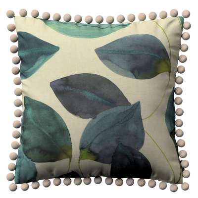 Kissenhülle Wera mit Bommeln 143-15 grün-blau Kollektion Abigail