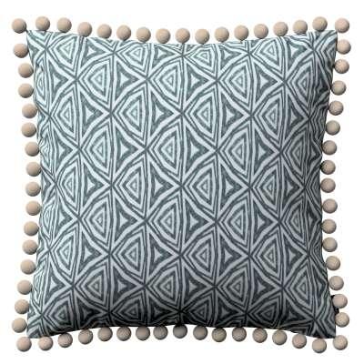 Poszewka Wera na poduszkę 143-23 zielono-niebieskie wzory na białym tle Kolekcja Comics