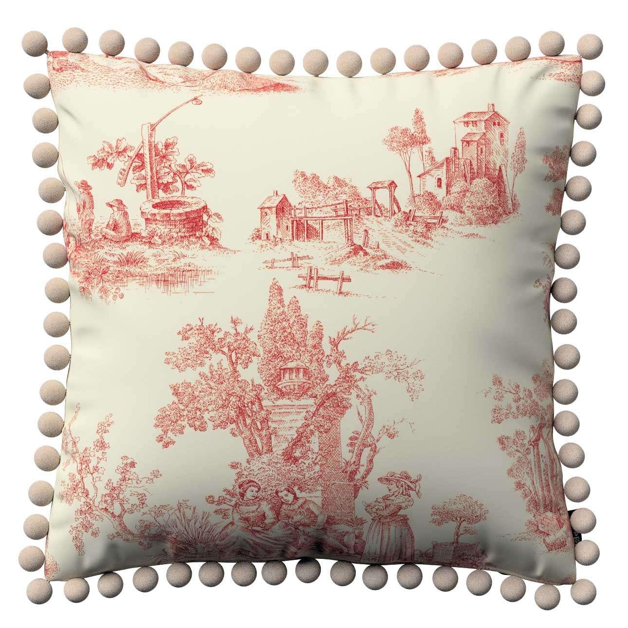 Poszewka Wera na poduszkę 45 x 45 cm w kolekcji Avinon, tkanina: 132-15