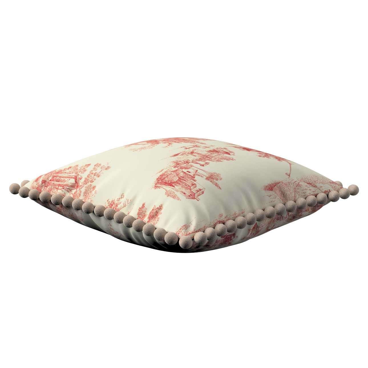 Wera dekoratyvinės pagalvėlės užvalkalas su žaismingais kraštais 45 x 45 cm kolekcijoje Avinon, audinys: 132-15