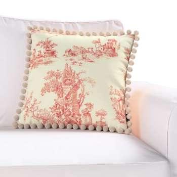 Wera dekoratyvinės pagalvėlės užvalkalas su žaismingais kraštais kolekcijoje Avinon, audinys: 132-15