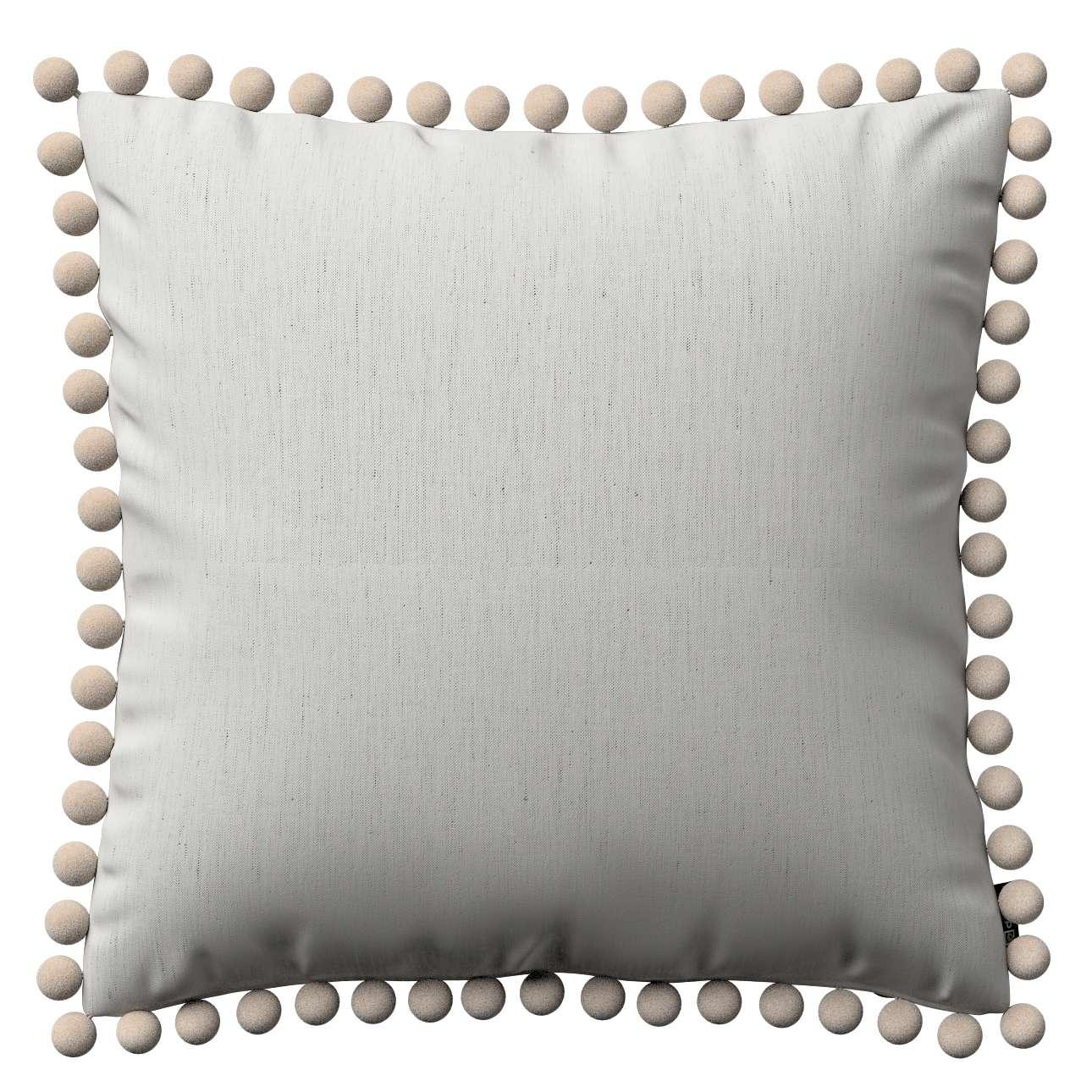 Viera s brmbolcami V kolekcii Linen, tkanina: 159-06