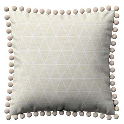 Vera cushion cover with pom poms 143-49 beige Collection Sunny