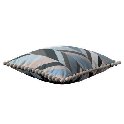 Věra - potah na polštář ozdobné bambulky po obvodu