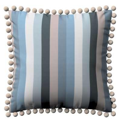 Poszewka Wera na poduszkę 143-57 pasy w niebieskiej kolorystyce Kolekcja Vintage 70's