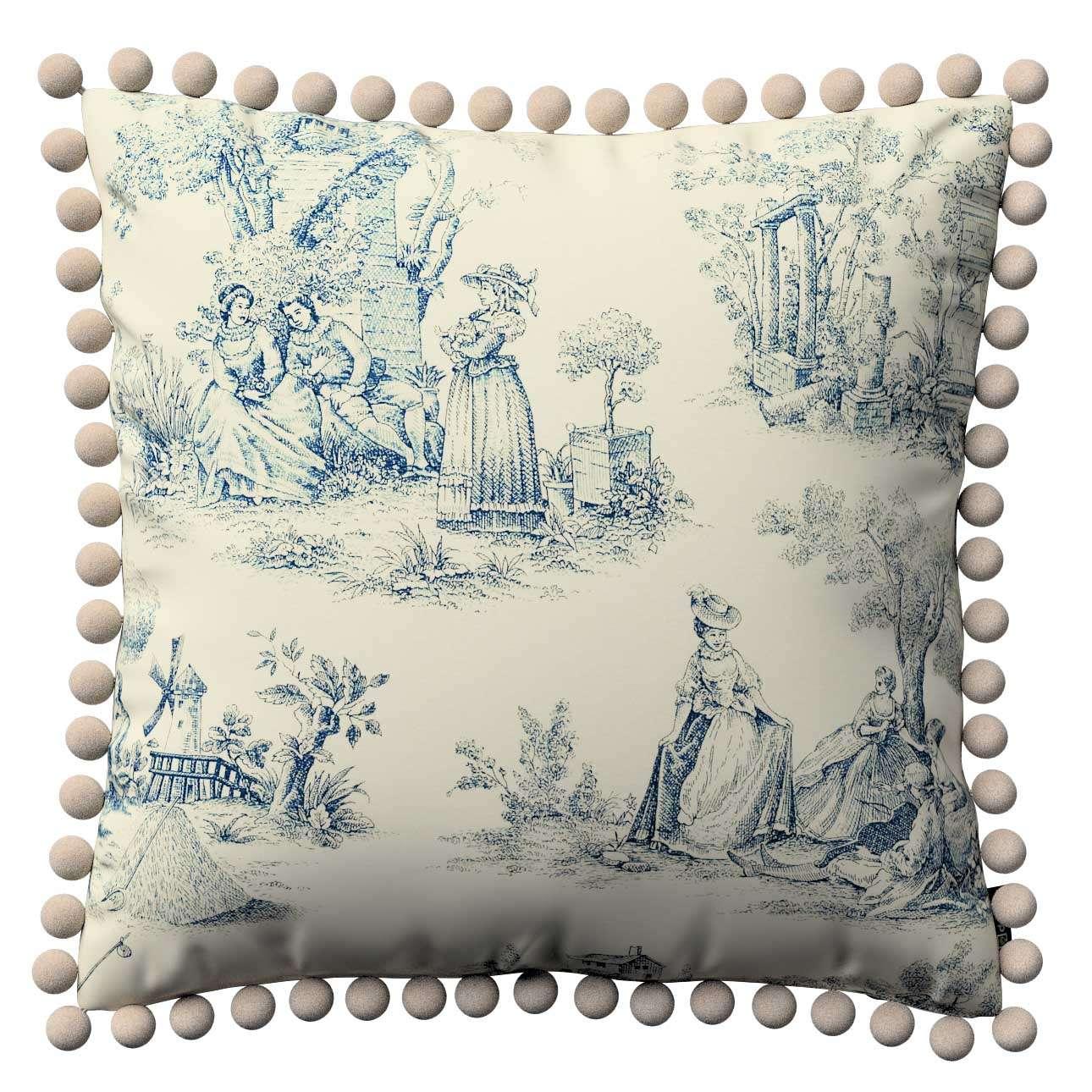 Wera dekoratyvinės pagalvėlės su žaismingais kraštais 45 x 45 cm kolekcijoje Avinon, audinys: 132-66