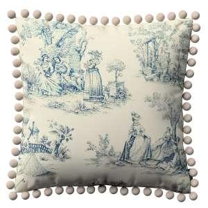 Wera dekoratyvinės pagalvėlės užvalkalas su žaismingais kraštais 45 x 45 cm kolekcijoje Avinon, audinys: 132-66