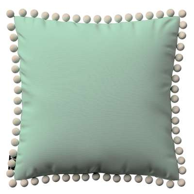 Daisy cushion covers with pom poms in collection Happiness, fabric: 133-61
