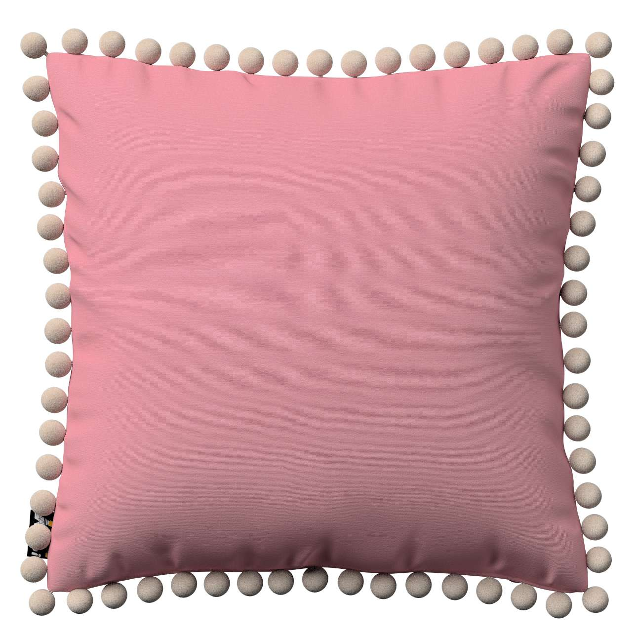 Daisy cushion covers with pom poms in collection Happiness, fabric: 133-62