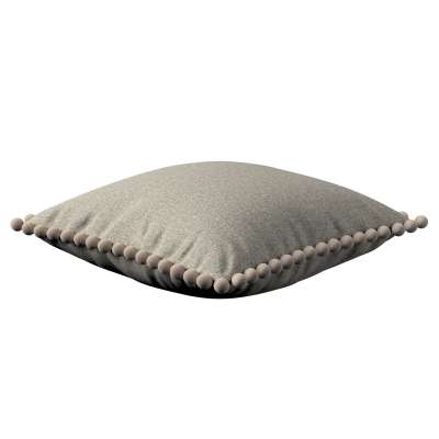 Poszewka Wera na poduszkę 161-23 szaro-beżowy melanż Kolekcja Madrid
