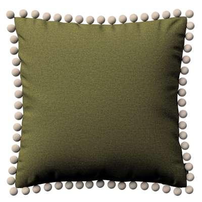 Poszewka Wera na poduszkę 161-26 oliwkowa zieleń Kolekcja Etna