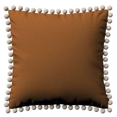 Vera cushion cover with pom poms 161-28 caramel Collection Living II