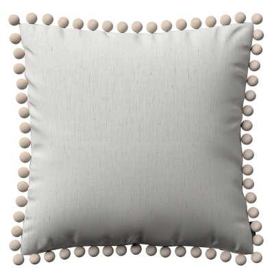 Daisy pagalvėlės užvalkalas  pom poms 159-06 baltas Kolekcija Nature -100% linas