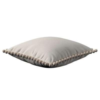 Daisy pagalvėlės užvalkalas  pom poms 159-07 pilkšvas Kolekcija Nature -100% linas