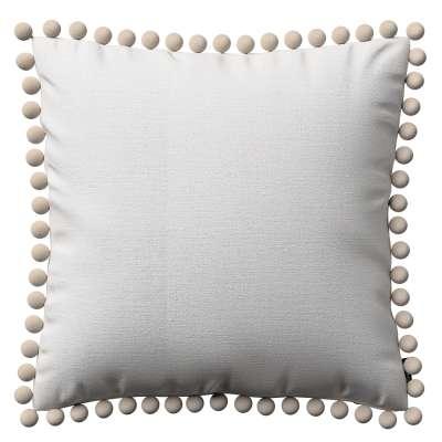 Daisy pagalvėlės užvalkalas  pom poms 392-04 baltas Kolekcija Nature -100% linas