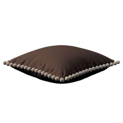 Viera s brmbolcami 161-73 čokoládovo hnedá Kolekcia Bergen