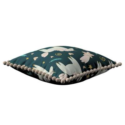 Daisy cushion covers with pom poms 500-43 dark blue Collection Magic Collection