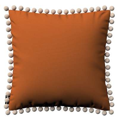 Daisy cushion covers with pom poms 702-42 ginger Collection Cotton Story