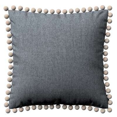 Vera cushion cover with pom poms 704-86 graphite - gray Collection City