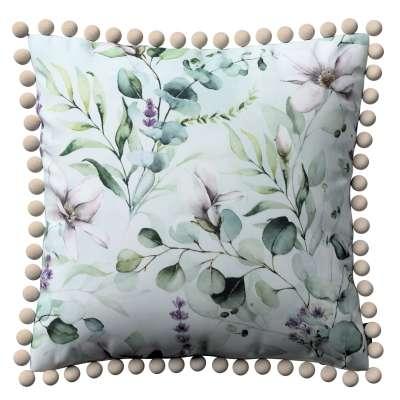Putetrekk<br/>Vera med pomponer 143-66 Naturhvit med pint Magnolie Kolleksjon Flowers