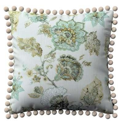 Poszewka Wera na poduszkę 143-67 kwiaty na beżowo - szarym tle Kolekcja Flowers