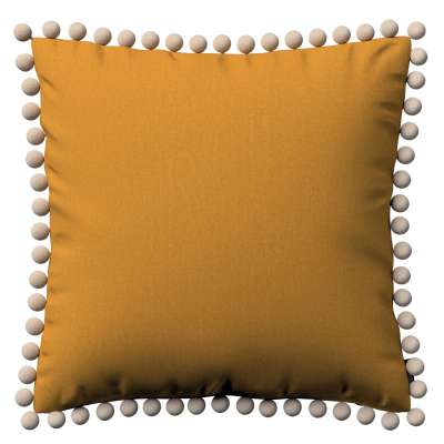 Vera cushion cover with pom poms 161-64 honey chenille Collection Living