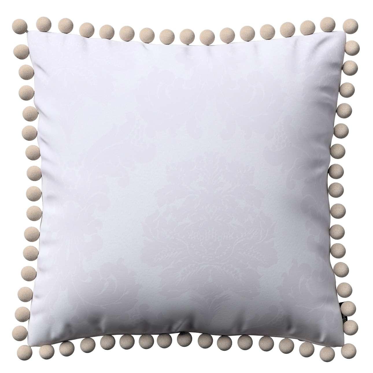 Wera dekoratyvinės pagalvėlės užvalkalas su žaismingais kraštais 45 x 45 cm kolekcijoje Damasco, audinys: 613-00