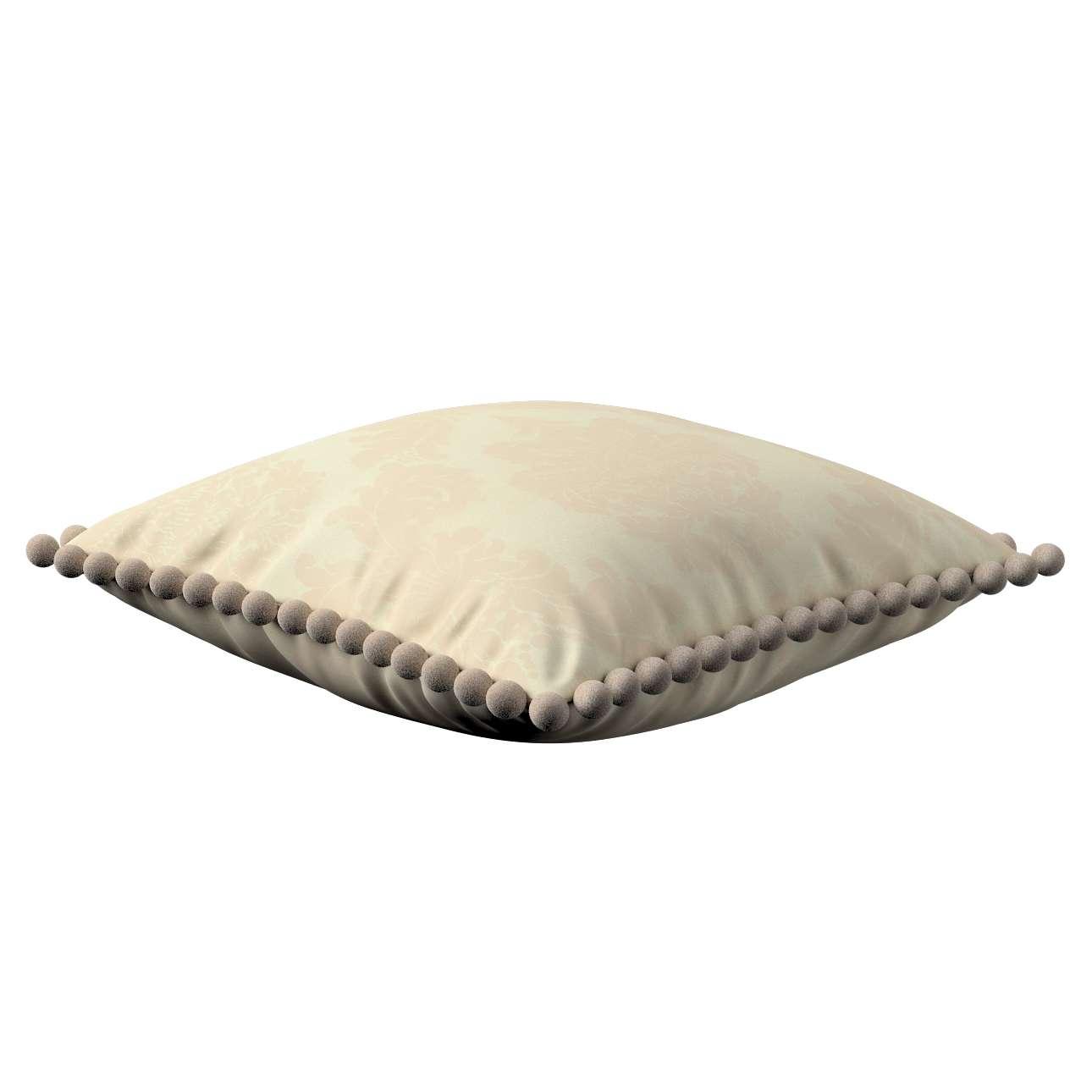 Wera dekoratyvinės pagalvėlės su žaismingais kraštais 45 x 45 cm kolekcijoje Damasco, audinys: 613-01