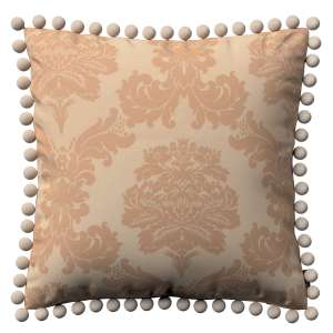 Wera dekoratyvinės pagalvėlės užvalkalas su žaismingais kraštais 45 x 45 cm kolekcijoje Damasco, audinys: 613-04