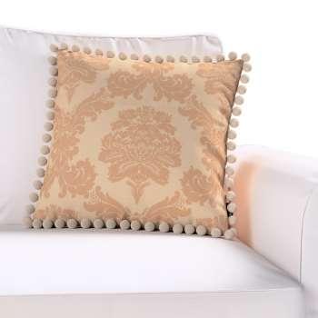 Wera dekoratyvinės pagalvėlės užvalkalas su žaismingais kraštais kolekcijoje Damasco, audinys: 613-04