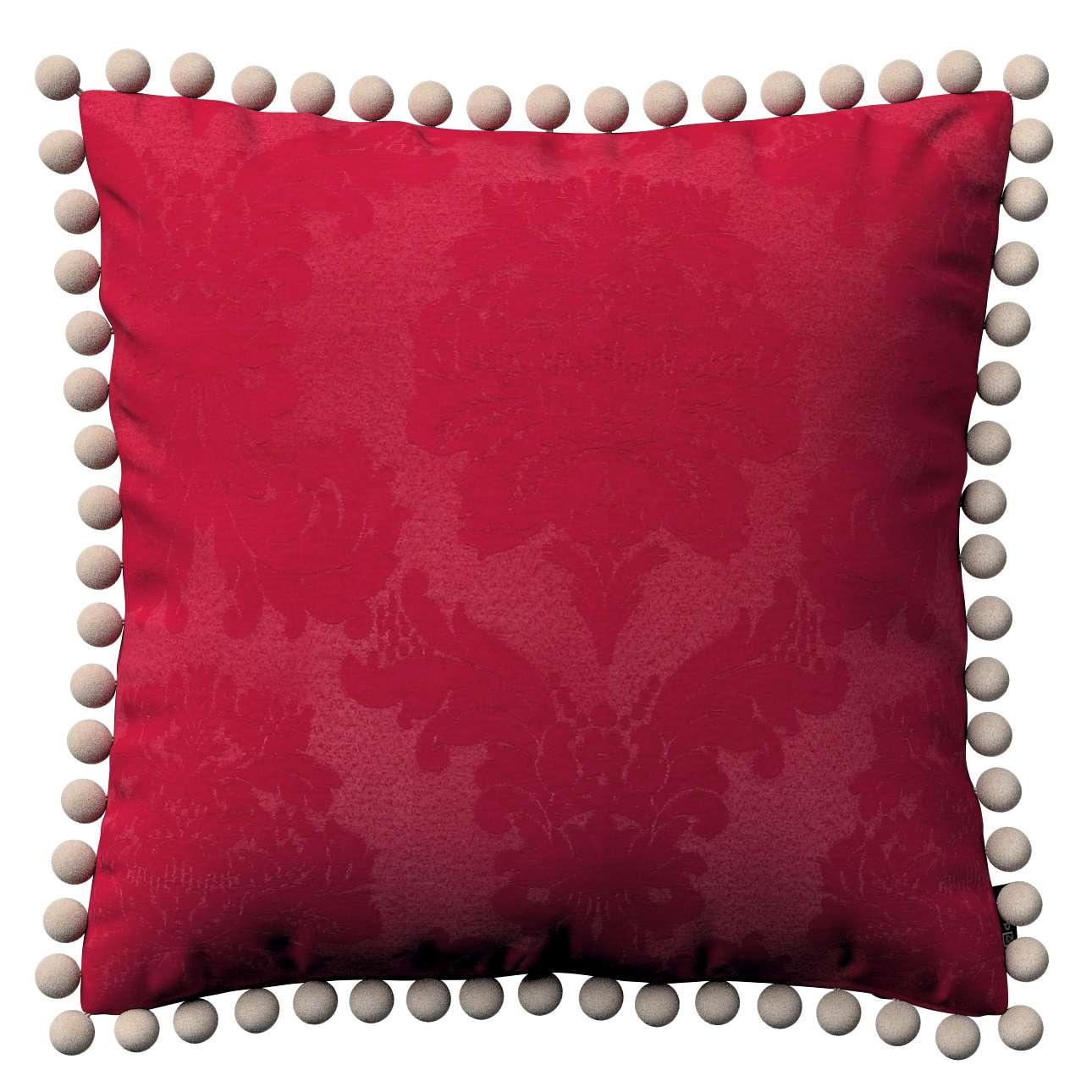 Wera dekoratyvinės pagalvėlės su žaismingais kraštais 45 x 45 cm kolekcijoje Damasco, audinys: 613-13